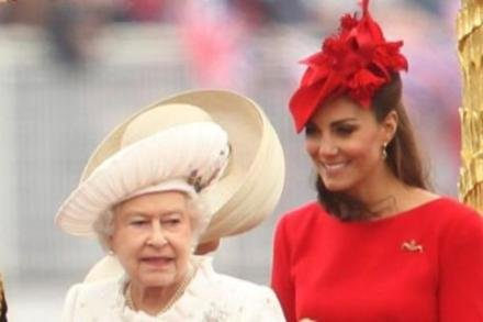 Queen Elizabeth and Duchess Catherine