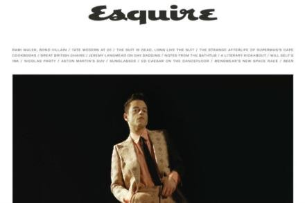 Rami Malek covers Esquire (courtesy of Esquire UK / Dexter Navy)