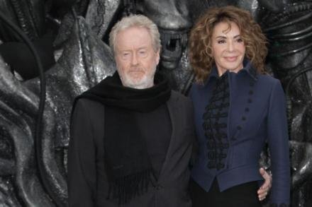 Ridley Scott and wife Giannina Facio at Alien: Covenant premiere