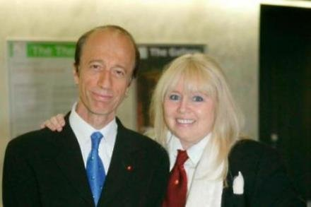 The late Robin Gibb with his wife Dwina