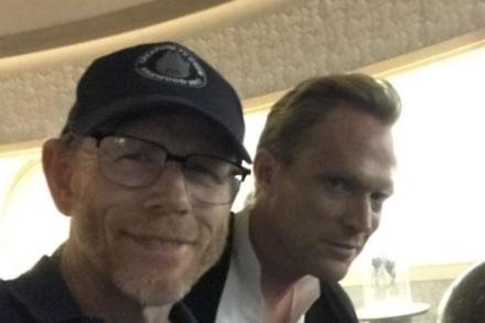 Ron Howard and Paul Bettany [Twitter]