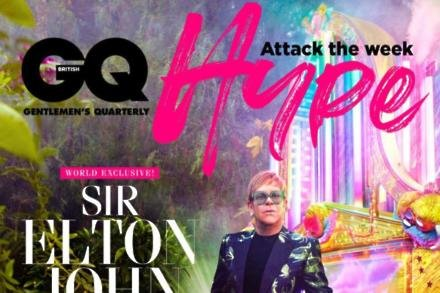 Sir Elton John covers GQ Hype (picture by David LaChapelle)