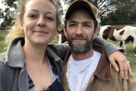 Sophie and Luke Perry (c) Instagram