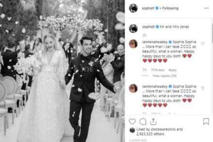 Sophie Turner and Joe Jonas on their wedding day