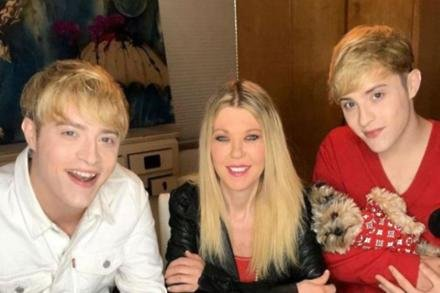 Tara Reid and Jedward [Instagram]