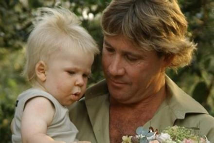 Terri Irwin's Twitter (c) post of Steve and Robert Irwin