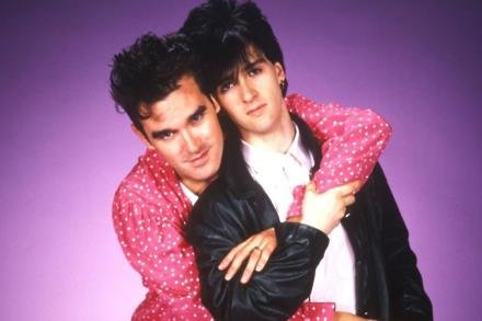 Morrissey and Johnny Marr in The Smiths