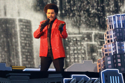 The Weeknd performs at Super Bowl