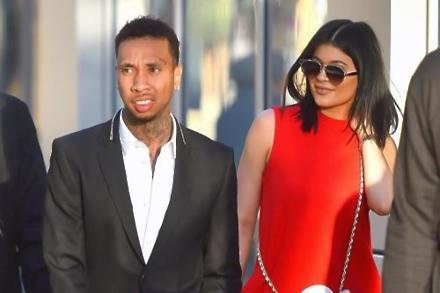Tyga and Kylie Jenner in 2015