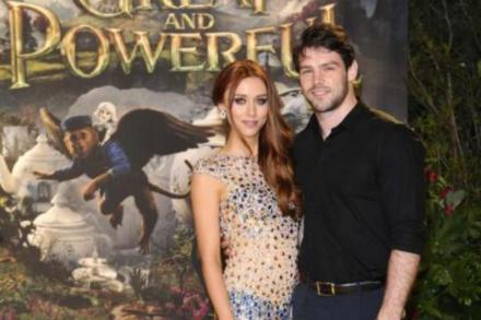 Una Healy with Ben Foden in 2013