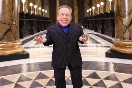 Warwick Davis attends Gringotts reveal at Warner Bros Studio Tour London