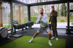 Video: Rio Ferdinand shares his at-home fitness regime