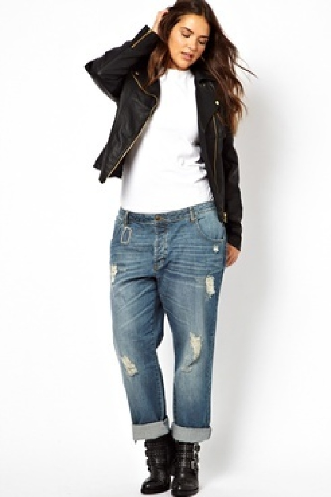 Trendy Plus Size Fashion For Women Jeans