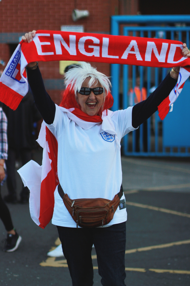Female football fan