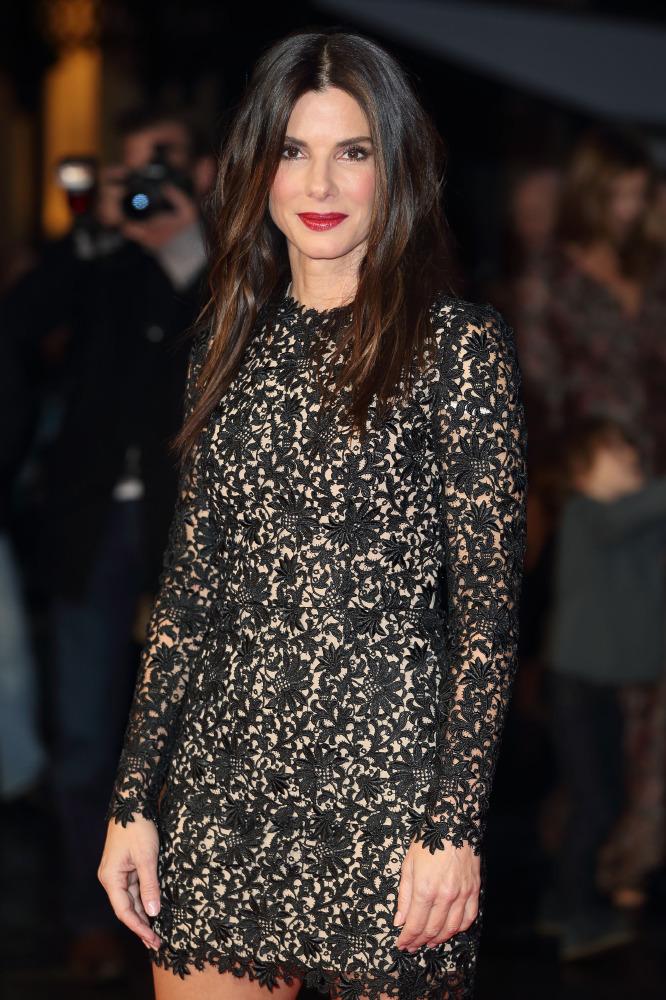 Sandra Bullock Nails The Black Lace Style Staple