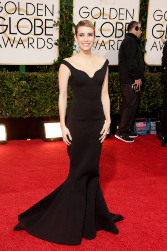 Celebrity Fashion At The Golden Globes 2014 Best Black Gowns